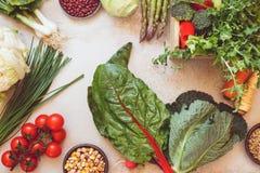 Légume et légumineuses frais de ressort Images stock