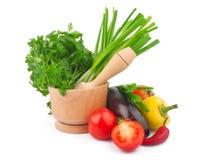 Légume et mortier Images stock