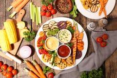Légume et sauce rôtis Photos stock