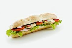 Légume frais et sandwich au jambon images stock