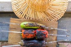 Légume grillé sur une casserole de gril, vue supérieure Images libres de droits