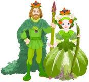 Légume les couples royaux illustration de vecteur