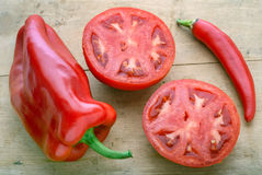 Légume rouge mûr Photographie stock libre de droits
