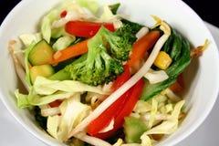 Légumes asiatiques 2 de friture de Stir Photographie stock libre de droits