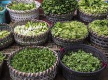 Légumes asiatiques dans les paniers Photo libre de droits