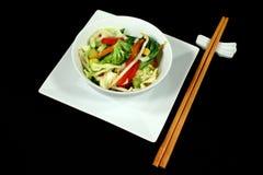 Légumes asiatiques de friture de Stir Photos libres de droits