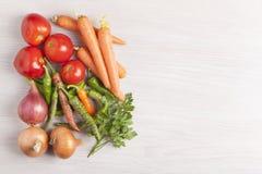Légumes assortis avec l'espace vide Photographie stock libre de droits