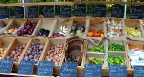 Légumes au marché de fermiers Photographie stock