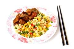 Légumes avec de la viande Images libres de droits