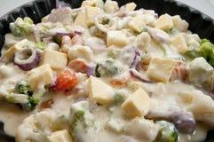 Légumes avec du beurre et le bechamel Images libres de droits