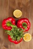 Légumes avec l'herbe Photos stock
