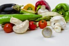 Légumes avec le petit prix Photos libres de droits