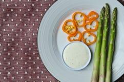 Légumes avec le ranch Photographie stock libre de droits