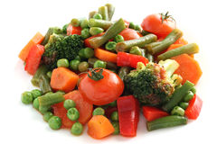 Légumes bouillis Photo libre de droits