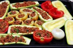 Légumes bourrés Images libres de droits