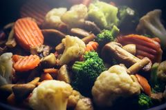 Légumes chauds chauds et humides Image libre de droits
