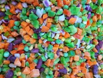 Légumes congelés assortis Fond végétal photo libre de droits