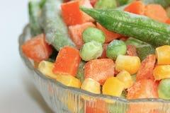Légumes congelés dans la cuvette Images libres de droits