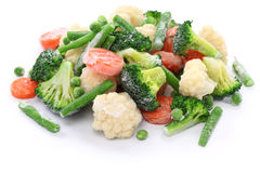 Légumes congelés faits maison Photo stock