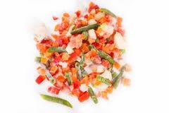 Légumes congelés sur le blanc Image libre de droits