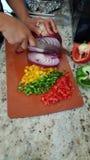 Légumes coupés Photos stock