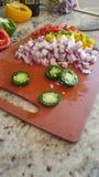 Légumes coupés Images stock