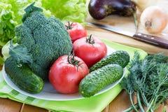 Légumes crus frais Photo stock