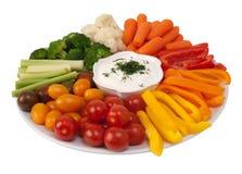 Légumes crus frais avec l'immersion Photographie stock