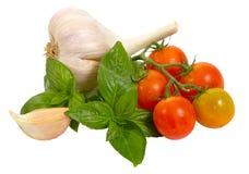 Légumes crus sur le blanc Photos libres de droits