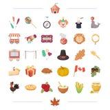 Légumes, cuisson, nature et toute autre icône de Web dans le style de bande dessinée Photo stock