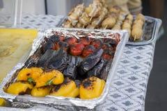 Légumes cuits à la vapeur Photographie stock libre de droits