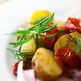 Légumes cuits au four images stock