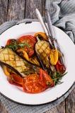 Légumes cuits au four mélangés Photographie stock libre de droits