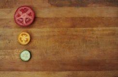 Légumes découpés en tranches frais Images stock