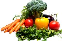 légumes d'isolement frais blancs Images libres de droits