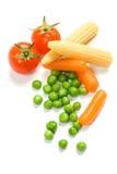 Légumes d'isolement sur le blanc Photo libre de droits