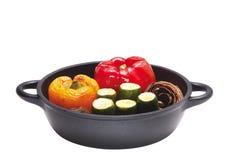 Légumes dans le bac photo stock