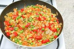 Légumes dans le carter Images libres de droits