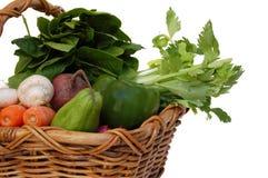 Légumes dans le panier Image stock