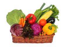 Légumes dans le panier Photo libre de droits
