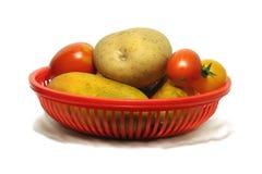 Légumes dans le panier Image libre de droits