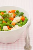 Légumes dans le plat blanc image stock