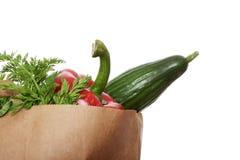 Légumes dans le sac à provisions de papier Photographie stock libre de droits
