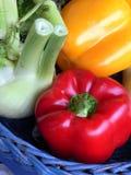 Légumes dans un panier Images libres de droits