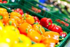 Légumes dans un supermarché Photographie stock