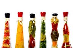 Légumes dans une bouteille Photos libres de droits
