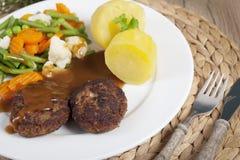 Légumes de côtelettes photographie stock libre de droits