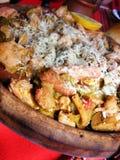 légumes de champignons de couche de viande de fromage Photos stock