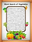 Légumes de découverte de mot de jeux de mots croisé pour des jeux d'enfants illustration libre de droits
