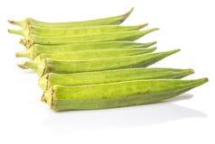 Légumes de doigts de gombo ou de dames VIII Photos libres de droits